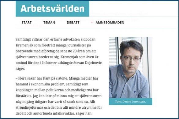 Slobodan-Kremenjak-Quoted-in-Swedish-Online-Magazine