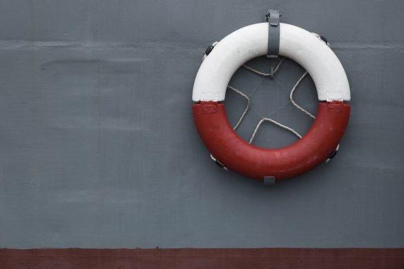 life ring on battleship